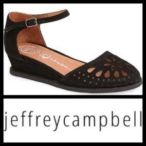 JEFFREY CAMPBELL Kalinda Ankle Strap Wedge